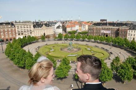 Kristen and Johns wedding at Københavns Rådhus